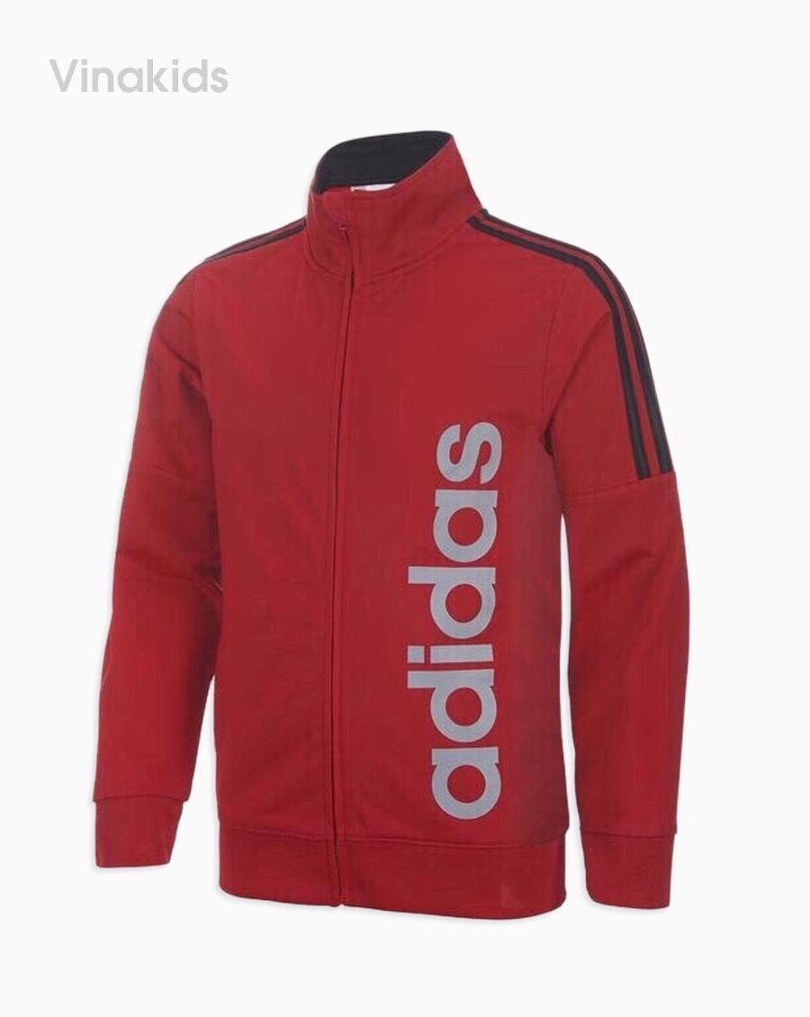 áo khoác bé trai da cá màu đỏ đô( 9-14 tuổi)