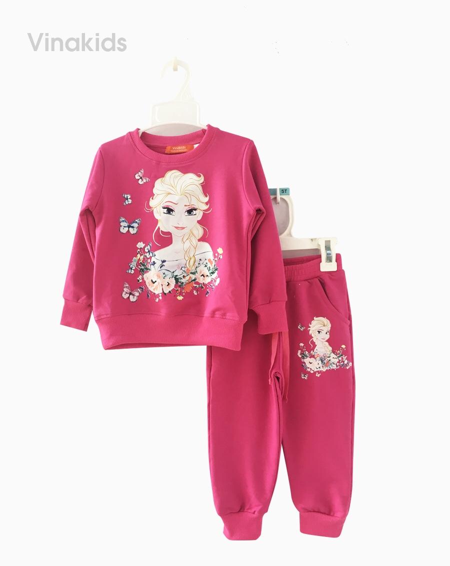 đồ bộ bé gái elsa da cá màu hồng ( 2-9 tuổi)