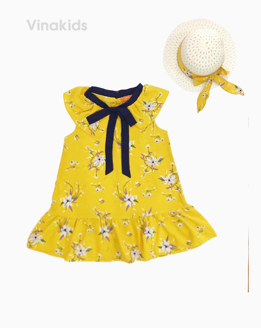 Váy đuôi cá bé gái kèm mũ màu vàng (1-8 tuổi)