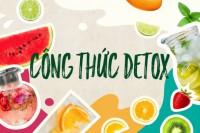 6 công thức detox giảm cân thanh lọc cơ thể đẹp da