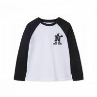 áo bé trai vinakids chữ n màu trắng phối tay màu đen (9-14 tuổi)