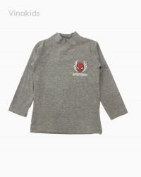 áo cổ ba phân bé trai nhện màu xám (1-7 tuổi)