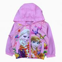 áo khoác gió bé gái công chúa elsa & anna màu hồng phấn (1-7 tuổi)