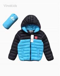 áo khoác phao bé trai 3 lớp màu xanh dương ( 4-9 tuổi)
