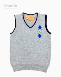áo len gile hình logo màu ghi size 2-10