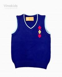 áo len gile hình logo màu tím than size 2-10 áo len gile hình logo màu tím than