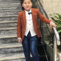 áo vest bé trai cao cấp màu vàng (1-6 tuổi)