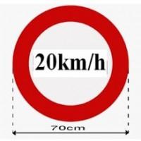 bán biển báo hạn chế tốc độ 20km/h tại vĩnh long