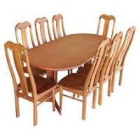 Bộ bàn ăn oval 1m6 + 6 ghế đầu bò – hagl