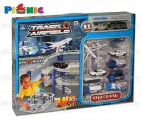 Bộ đồ chơi mô hình giao thông, máy bay và đội xe sân bay 74 miếng