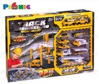 Bộ đồ chơi mô hình giao thông và đội xe công trình 72 miếng