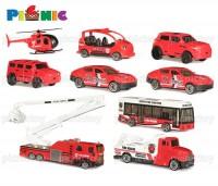 Bộ đồ chơi mô hình giao thông và đội xe cứu hỏa 72 miếng