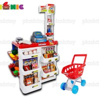Bộ đồ chơi quầy thu ngân và xe đẩy siêu thị