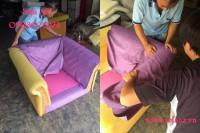 Bọc lại ghế sofa vải quận 4 kiểu tân cổ điển nhà..