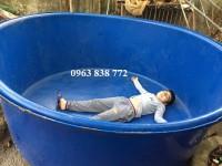 Bồn nhựa tròn 3000 lít làm bể bơi