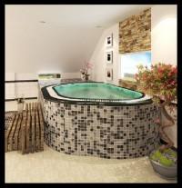 Bồn sục spa -massage tập thể ốp đá
