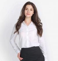 Cần bán áo sơ mi nữ tay dài màu trắng chất dày dặn tại quận bình tân