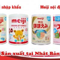 Các loại sữa meiji số 0 có trên thị trường, cách phân biệt ?