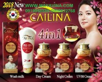 Cailina bộ 4 sản phẩm chăm sóc da tinh chất linh..