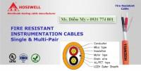 Cáp tín hiệu báo cháy 2x1.0mm2 và 2x1.5mm2 ~ 18awg & 16awg hosiwell thái lan