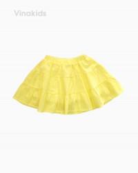 Chân váy bé gái 3 tầng màu vàng (2-6 tuổi)