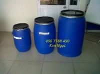 Chuyên cung cấp thùng phuy nhựa nắp hở 150lit giá rẻ