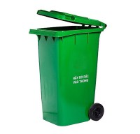 Công ty phân phối thùng rác hdpe 240l 120l 60l nắp kín có bánh xe: giá rẻ
