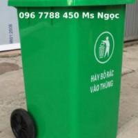 Cung cấp thùng rác nhựa 240 lít xanh lá giá rẻ nhất thị trường