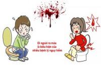 đi cầu ra máu tươi có nguy hiểm không?