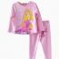 đồ bộ bé gái barbie màu hồng phấn size nhí