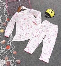 đồ bộ bé gái hình hoa màu trắng (1-6 tuổi)