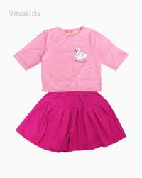 đồ bộ bé gái thiên nga màu hồng size đại