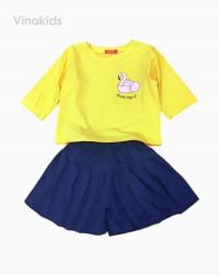 đồ bộ bé gái thiên nga màu vàng size đại