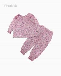 đồ bộ bé gái xuất xịn hoa tím (1-6 tuổi)