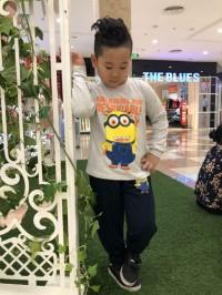 đồ bộ bé trai minions màu ghi (1-7 tuổi)