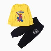 đồ bộ bé trai dài tay siêu nhân mạng nhện màu vàng (1-7 tuổi)