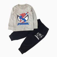 đồ bộ bé trai dài tay siêu nhân spiderman màu ghi (1-7 tuổi)