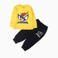 đồ bộ bé trai dài tay siêu nhân spiderman màu vàng (1-7 tuổi)