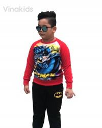đồ bộ bé trai họa tiết batman màu đỏ (8-12 tuổi)