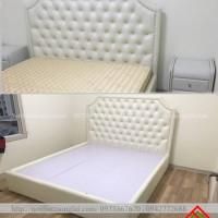 Giường ngủ bọc nỉ thanh lịch hiện đại