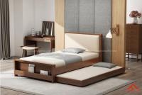 Giường ngủ đẹp gỗ tự nhiên 2 trong 1