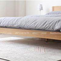 Giường ngủ gỗ sồi chân cao hiện đạu