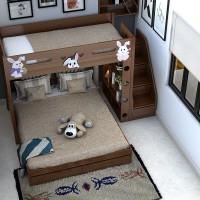 Giường tầng ngủ gỗ sồi nga