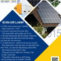 Hệ thống năng lương mặt trời 3kw
