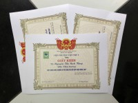 In giấy khen, bằng khen, cung cấp khung giấy khen giá rẻ tại xưởng