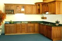 Kệ bếp gỗ tự nhiên, gỗ công nghiệp