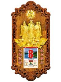 Lịch gỗ phong thủy phúc lộc thọ 3dp9-plt