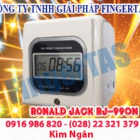 Máy chấm công thẻ giấy rj990a/n lắp đặt tận nơi free