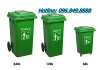 Nên trang bị thùng rác nhựa ngoài trời dung tích chứa 240l, 120l hay 60l?