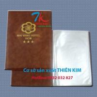 Nhận sản xuất bìa da, bìa menu da, cung cấp cuốn menu, bìa đựng hồ sơ có sẵn,